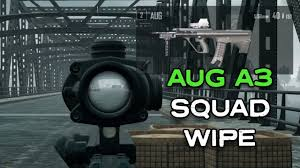 pubg aug pubg aug a3 squad wipe pubg new rifle youtube