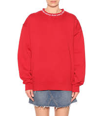 yana cotton sweatshirt acne studios mytheresa com