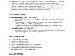 Real Estate Resume Sample by Real Estate Resume Haadyaooverbayresort Com