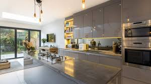 concrete kitchen countertop green kitchen wall white kitchens
