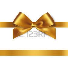 brown ribbon shiny gold satin ribbon on white background vector royalty free