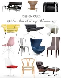 famous chairs design quiz famous 20th century chairs thestylesafari