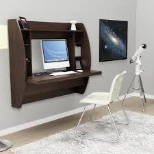 prepac floating desk with storage white desks at hayneedle