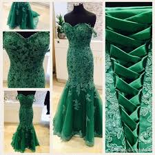 real photos 2017 emerald green mermaid prom dresses off shoudler