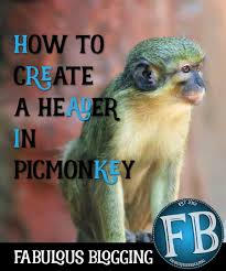 creating a customized header for your blog using picmonkey