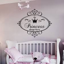 popular baby sleeping quotes buy cheap baby sleeping quotes lots fashion princess sleeps baby kids girl quote wall stickers art room removable decals diy china