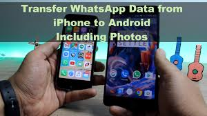 iphone to android transfer how to transfer whatsapp chat data and photos from iphone to