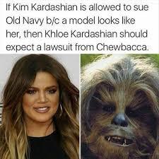 Chewbacca Memes - khloe kardashian vs chewbacca realfunny