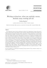 sample self evaluation essay writing evaluation what can analytic versus holistic essay writing evaluation what can analytic versus holistic essay scoring tell us pdf download available