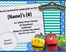 chuggington theme etsy