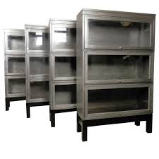 Modern Bookcase Furniture Mid Century Stack Metal Barrister Bookcase Single Unit