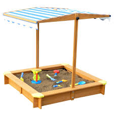 merry products and white canadian hemlock sandbox with canopy