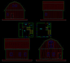 Gambrel Pole Barn by Sample Floor Plans