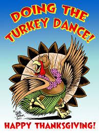 hula and tiki gods happy thanksgiving turkey