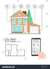 smart home control by smartphone technology stock vector 384090046