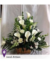 flower deals deals on calla tribute basket by 1 800 flowers