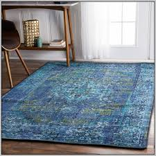 Modern Rug 8x10 Modern Solid Navy Blue Area Rug Rope Walk White Color With
