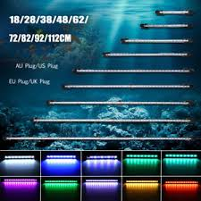 Aquarium Led Light Bar 20cm 130cm Rgb White Blue Aquarium Led Fish Tank Light Bar