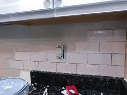 Easy To Install Backsplashes For Kitchens How To Install A Subway Tile Backsplash Free Subway Tile