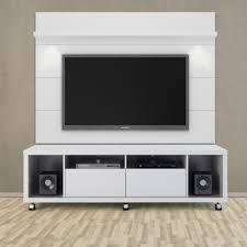 Wall Tv Furniture Cabrini White Gloss Tv Stand U0026 Floating Wall Tv Panel W 1 8 Led