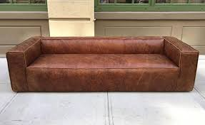 Distressed Leather Upholstery Fabric Pair 9 Ft Italian Distressed Leather Sofas For Sale At 1stdibs