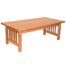 solid oak mission style coffee table american mission coffee table vermont woods studios modern