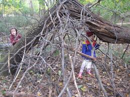 real family time cool fort building a hideout gets kids outdoors