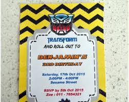 transformer birthday invitations etsy
