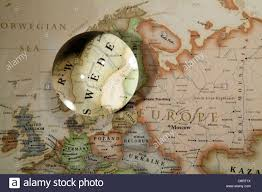 Continent World Map by Close Up Of European Continent World Map With Crystal Ball Stock