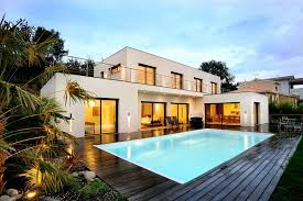 poolside designs modern swimming pool designs of a white modern terraced houses with