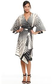 occasion gallery 291 printed wrap wide sleeve kimono dress in