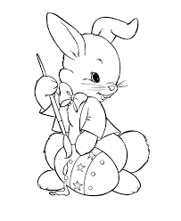 bunny pictures print kids coloring