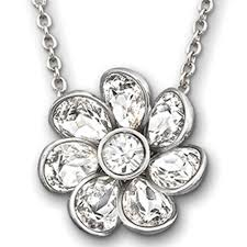 swarovski crystal flower necklace images Swarovski renee clear crystal flower necklace jpg
