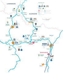 Alsace France Map by H2olidays Different Regions For Boating Vacations In France