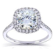 overstock engagement rings annello by kobelli 14k white gold 2 1 4ct tgw forever one def