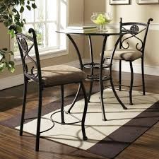 steve silver brookfield round glass top pub table u0026 2 counter