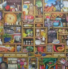 halloween jigsaw puzzle jigsaw puzzle 1000 pc ravensburger kitchen cupboard colin thompson