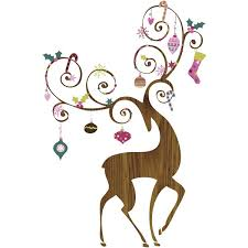 christmas reindeer christmas reindeer wall stickers home decor wall stickers