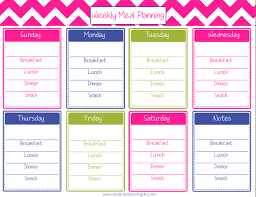 printable meal planner free weekly meal planning printable a spark of creativity