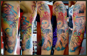 turbo tattoo sleeve amazing arm tattoos by approved artists