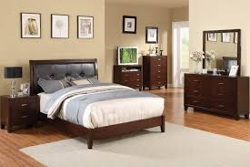 enrico platform bed brown cherry cm7068