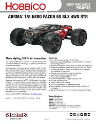 rc monster truck video new arrma outcast and nero fazon 6s powered rtr monster trucks