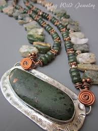 copper jewelry necklace images Copper and jade metal smith women 39 s necklace hogwild jewelry jpg