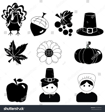 thanksgiving icons stock vector image 43023908 canadian