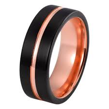 black wedding ring mens gold wedding band tungsten wedding rings