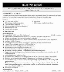 Family Caregiver Resume Best Medical Caregiver Resume Example Livecareer