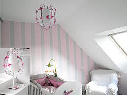 éclairage chambre bébé suspension papillon blanche grise et fabrique casse noisette