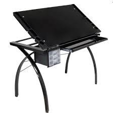 Drafting Table Supplies Black Futura Studio Design Glass Top Table Supplies 199 Home