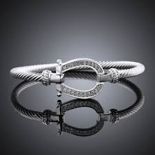 silver plated bangle bracelet images Horse shoe bangle silver plated with crystal some cool shops jpg
