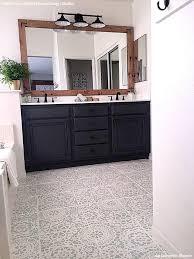 How To Paint A Tile Floor Bathroom - tips for painting bathroom tile with floor stencils royal design